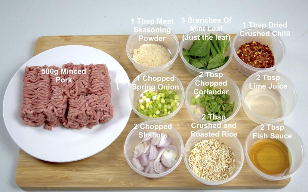 Laab Moo Ingredients List