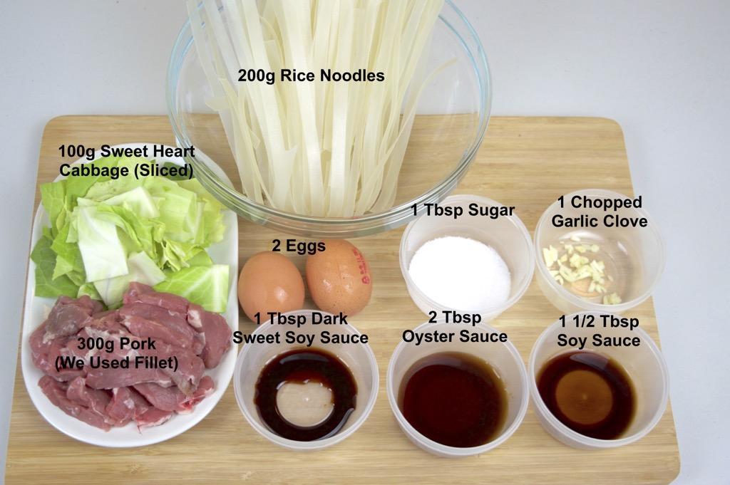 Pork in soy sauce noodle stir fry pad see ew pad see ew ingredients list ccuart Choice Image