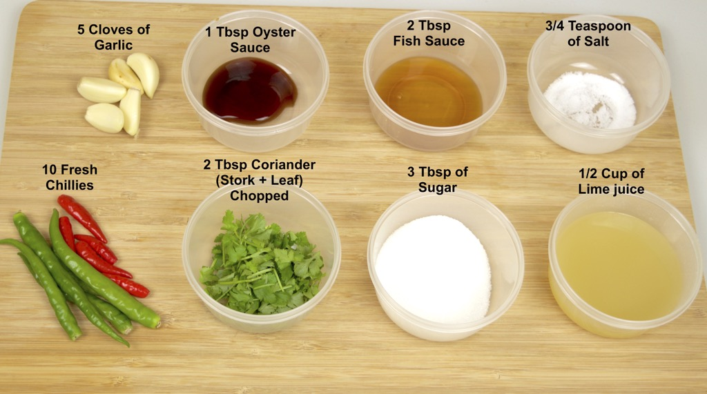 Seafood dipping sauce ingredients list