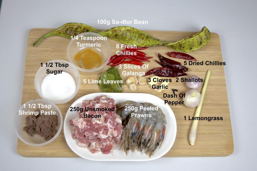 Spicy Seafood Stir Fry Ingredients