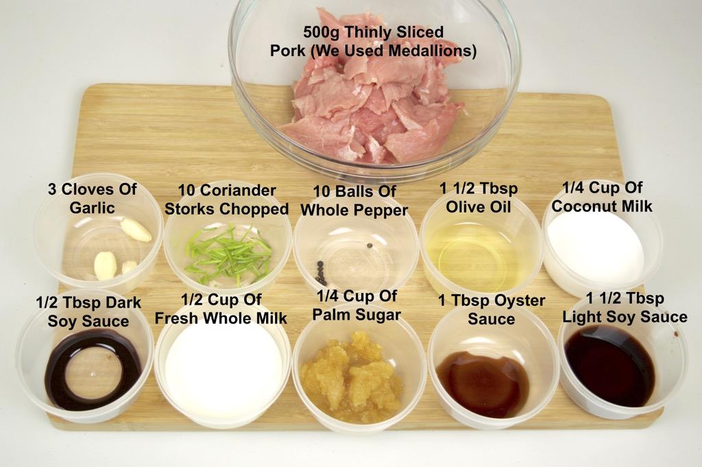 Street Vendor Grilled Pork Ingredients List
