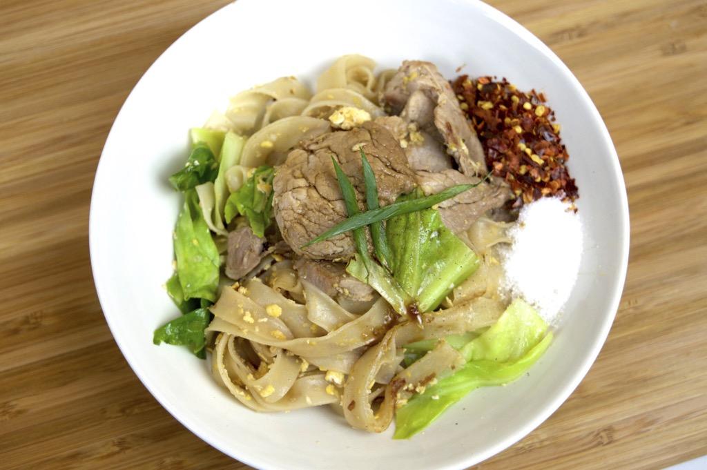 Pork In Soy Sauce Noodle Stir Fry (Pad See Ew)