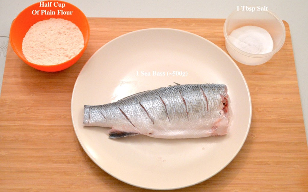 Fried Sea Bass Ingredients