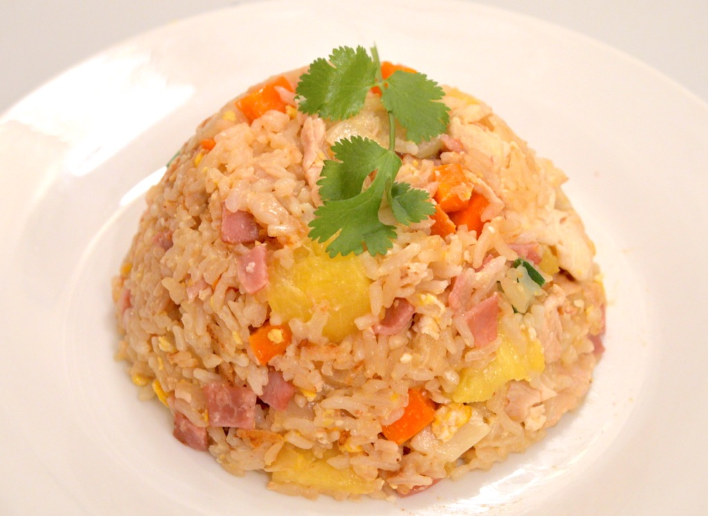 Pineapple and chicken fried rice recipe