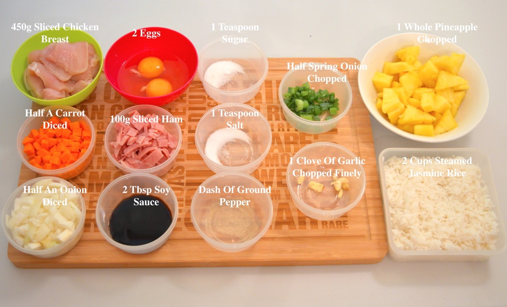 Pineapple fried rice ingredients list