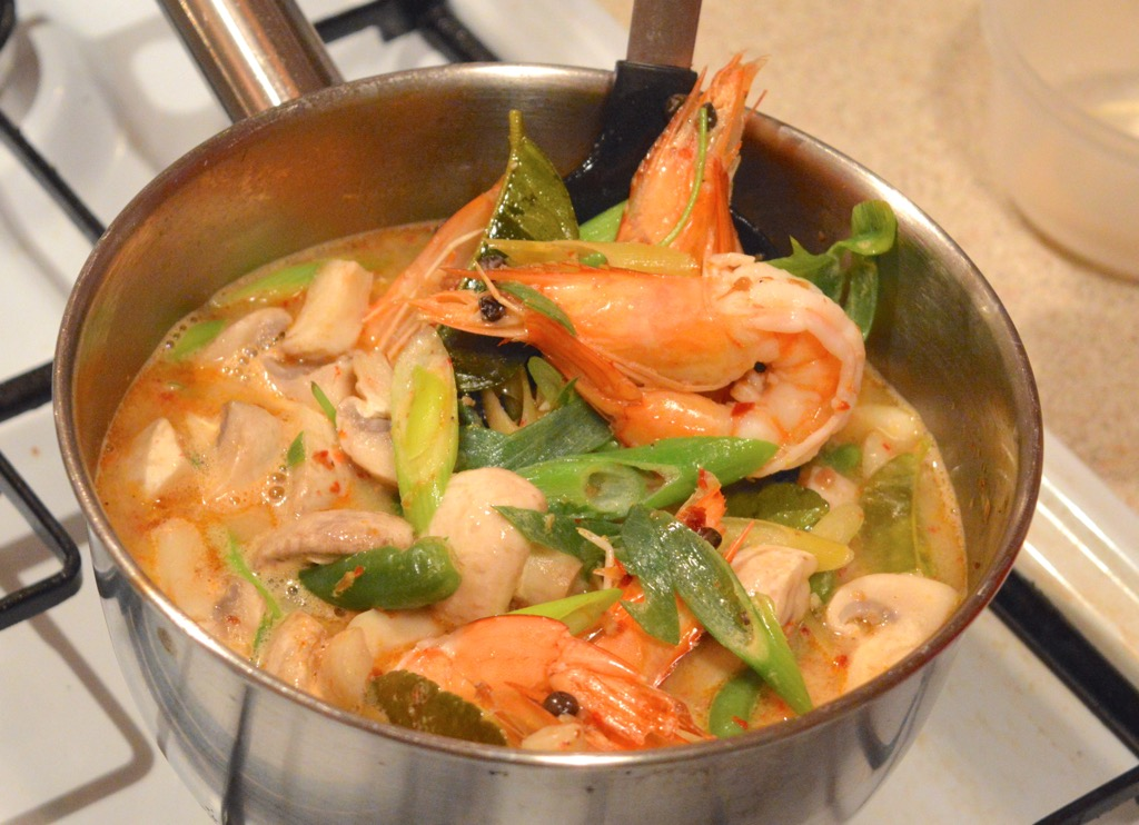 Prawns Cooked In Tom Yum