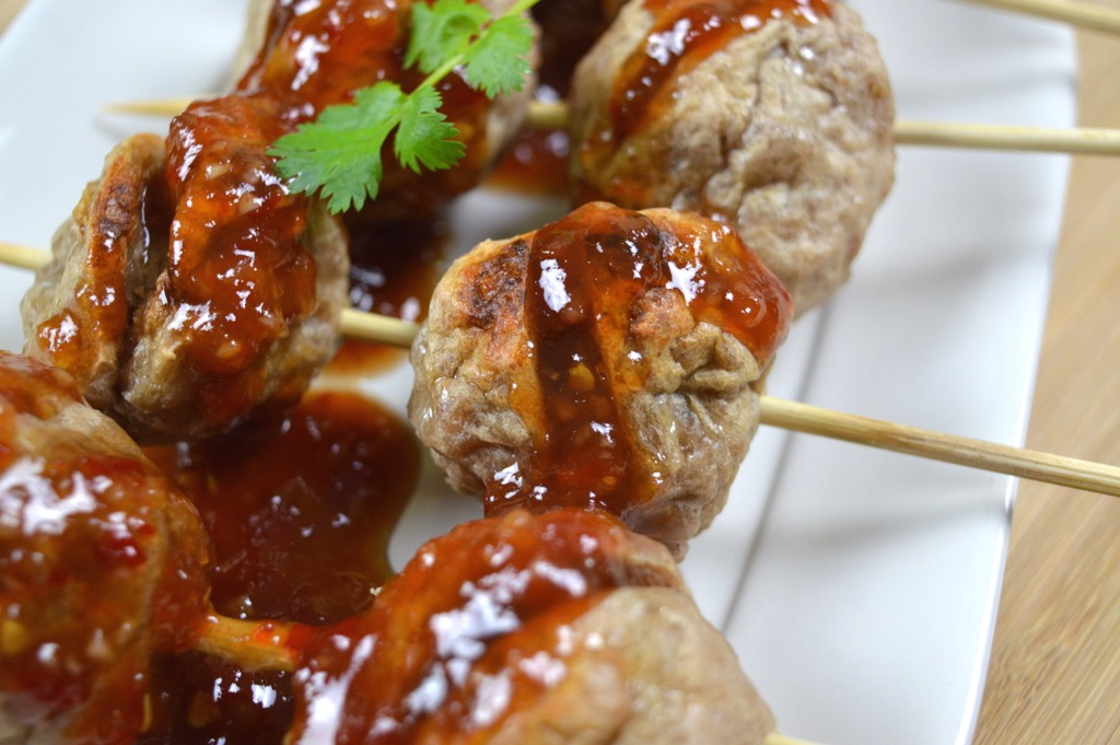 Thai Meatballs With Home Made Sweet Chilli Sauce