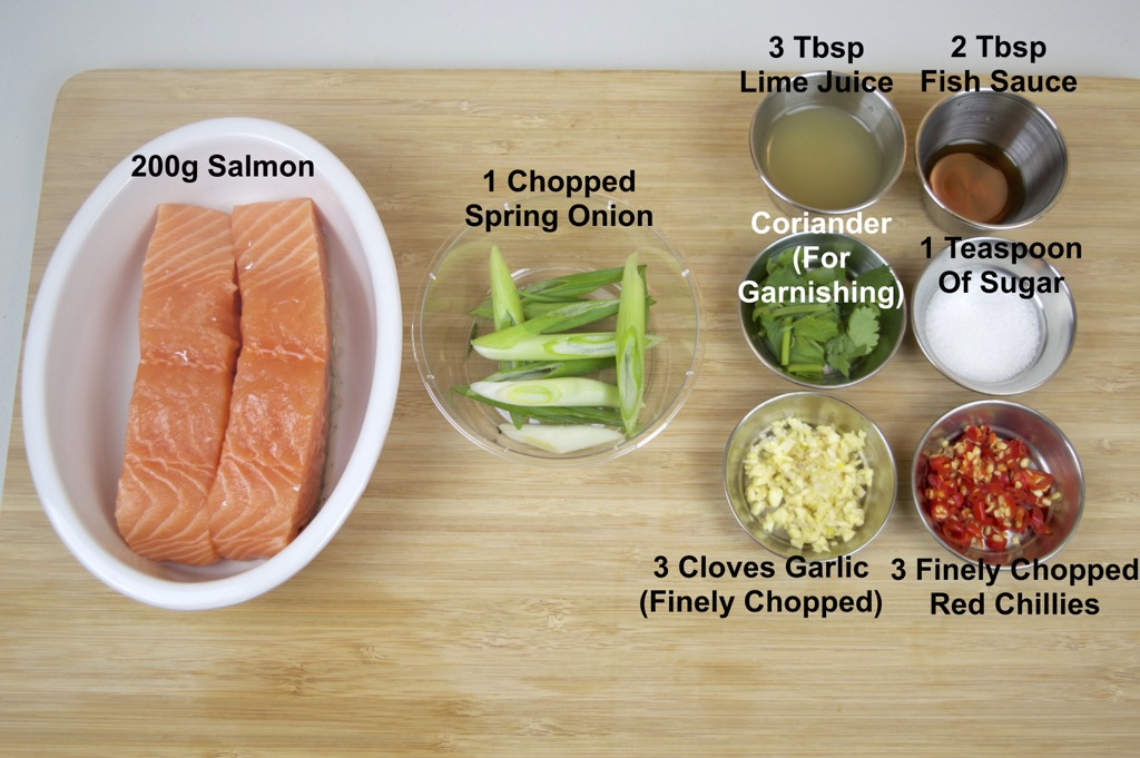 pla nueng manao steamed salmon ingredients list