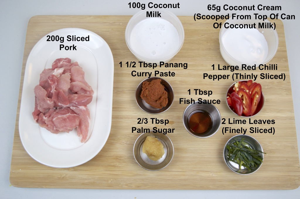 thai panang curry ingredients list