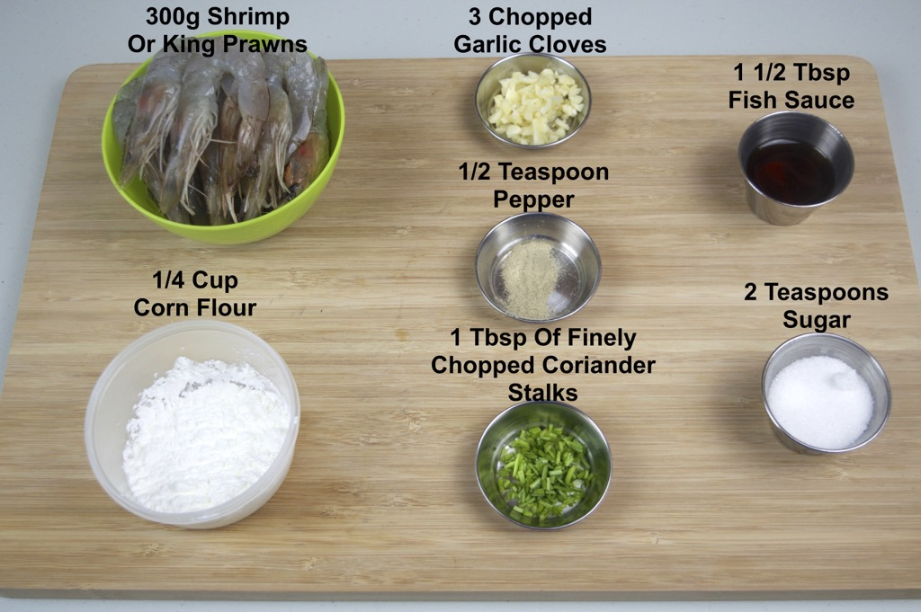 fried shrimp with garlic and pepper ingredients list