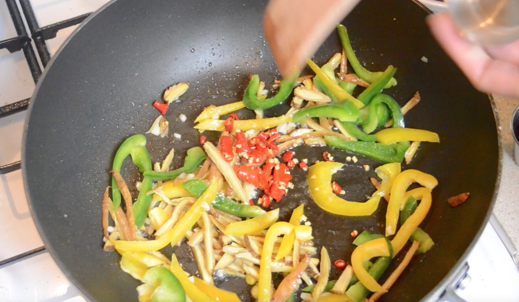 frying the chilli