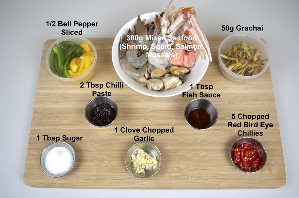 pad chai spicy seafood stir fry ingredients list