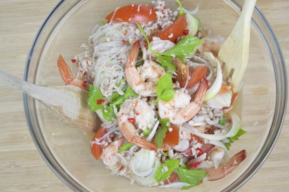 noodle salad recipe yum woon sen share this recipe this spicy salad ...