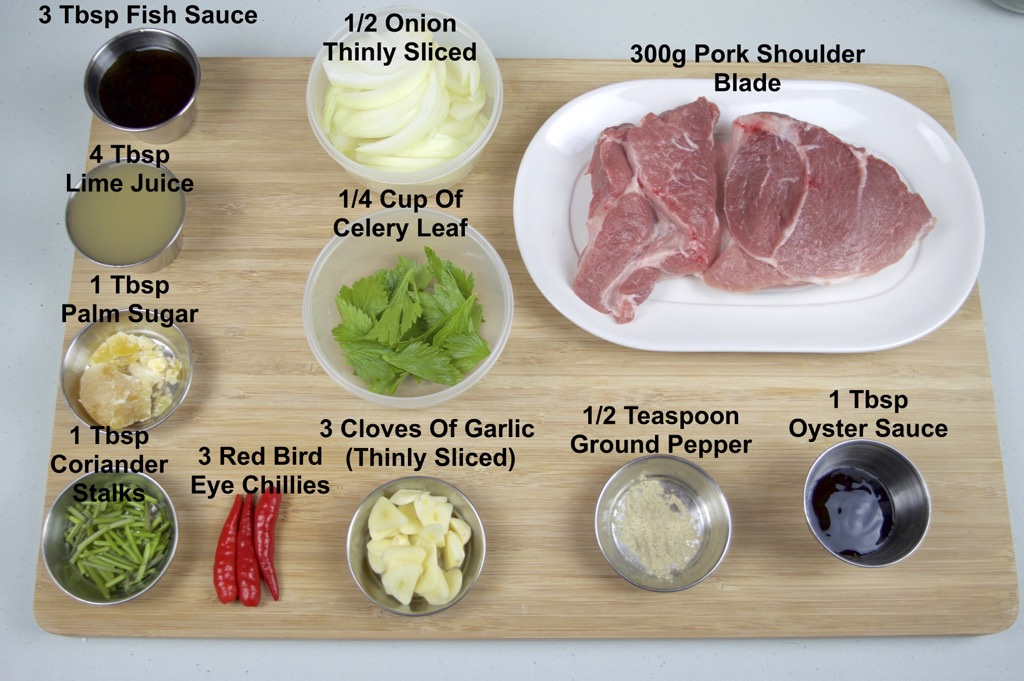 spicy grilled pork salad ingredients list