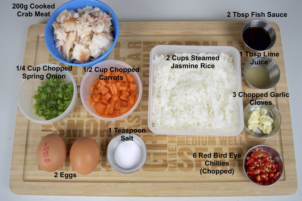 Crab Fried Rice Ingredients List