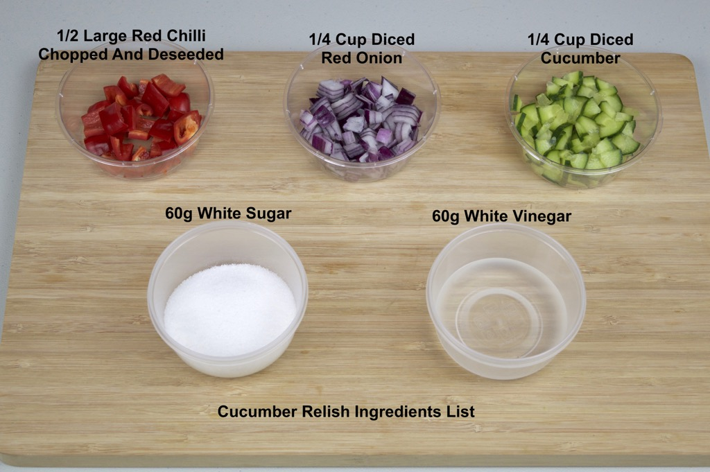 Cucumber relish ingredients list