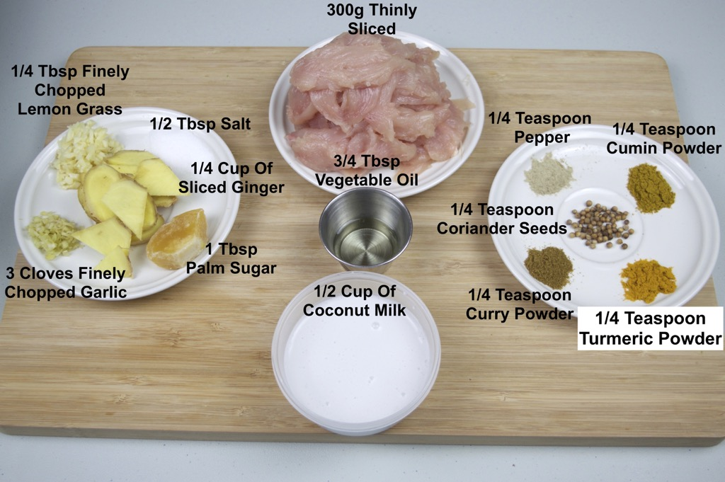 chicken satay ingredients list