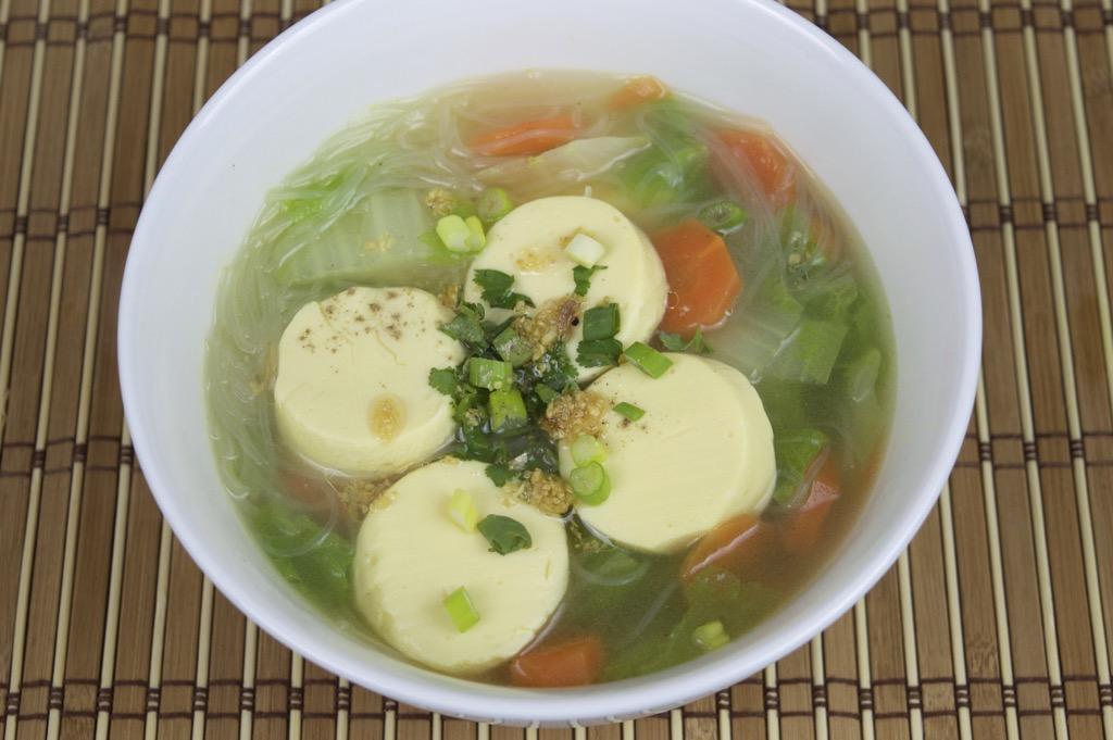 Vegetarian Thai Tofu Soup Recipe