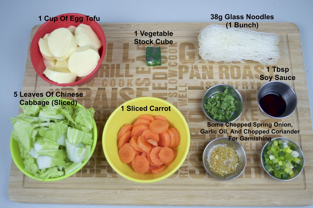 egg tofu soup ingredients list