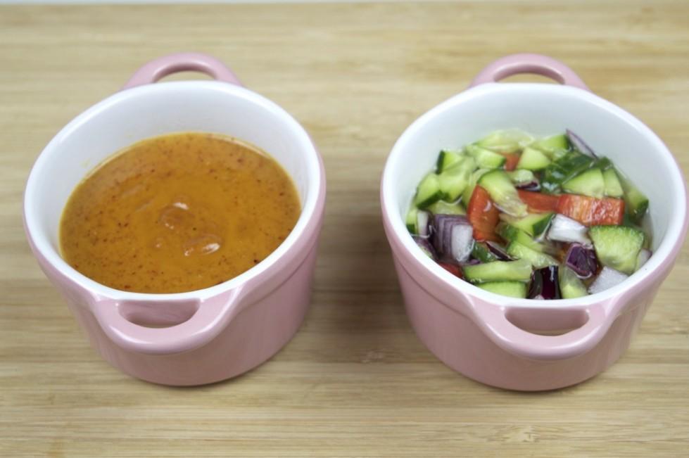 peanut sauce and cucumber relish recipe