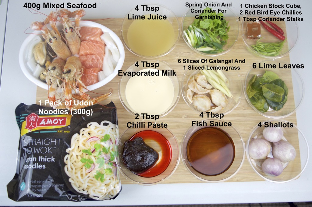 udon noodles in tom yum soup ingredients list