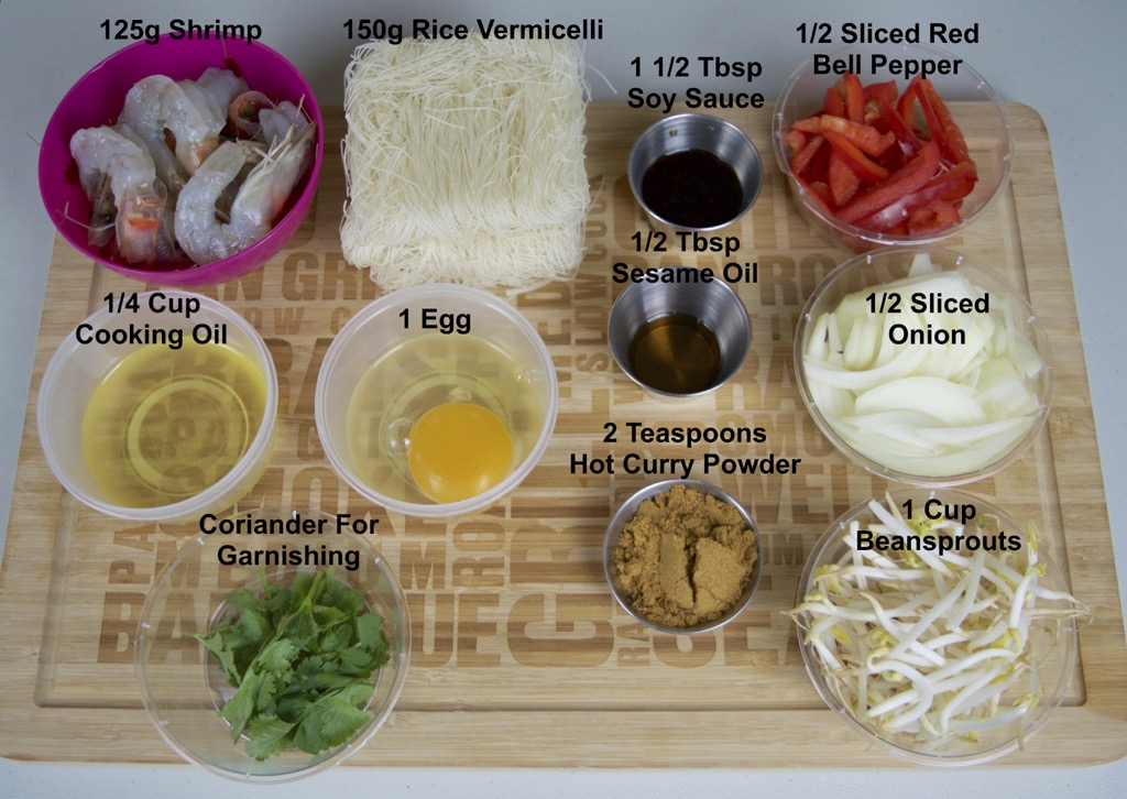 Singapore Noodles Ingredients List