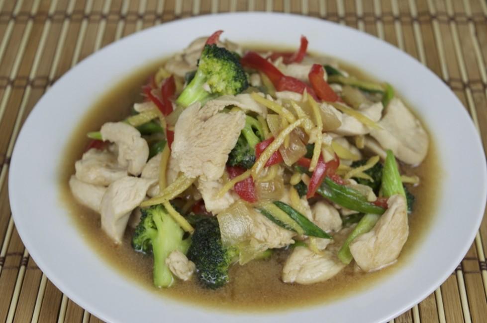 Thai ginger chicken stir fry recipe gai pad king forumfinder Image collections
