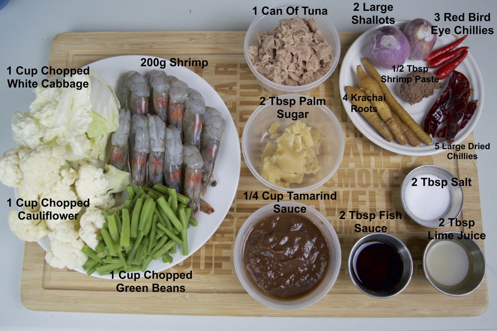 kaeng som sour curry ingredients list