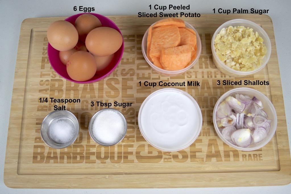 Thai Baked Coconut Pudding Recipe Khanom Mo Kaeng