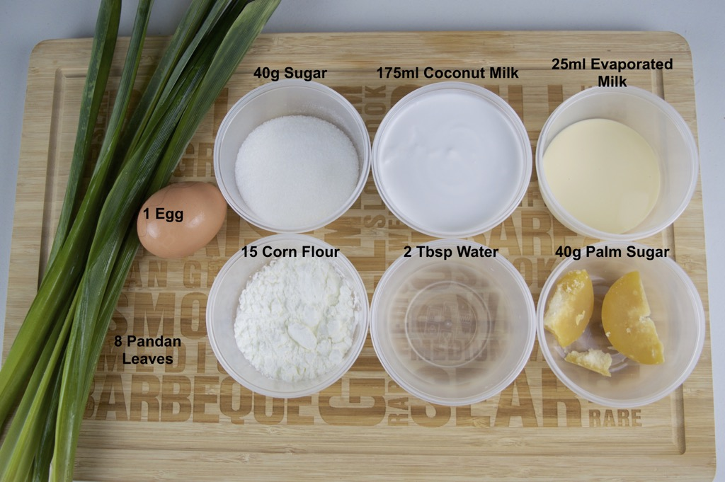 pandan custard ingredients list