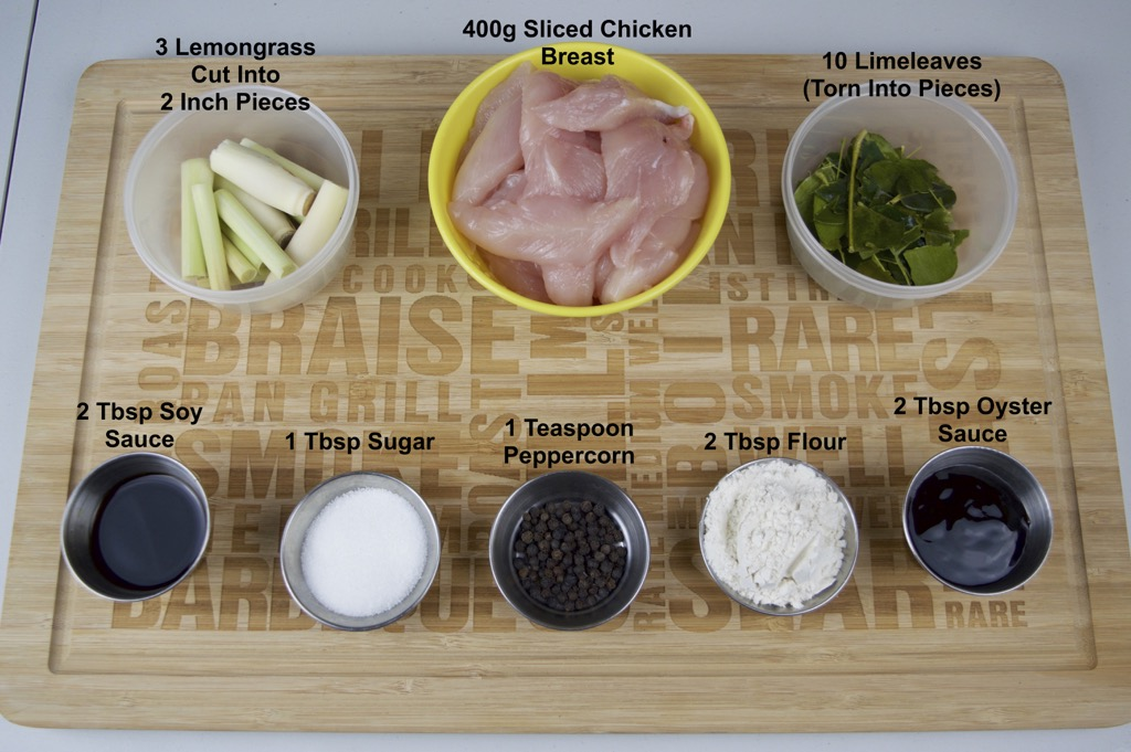 thai lemongrass chicken ingredients list