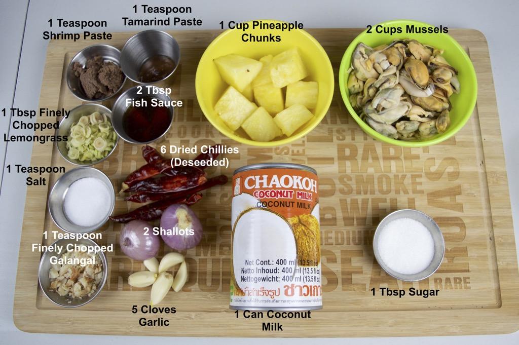 thai pineapple curry ingredients list