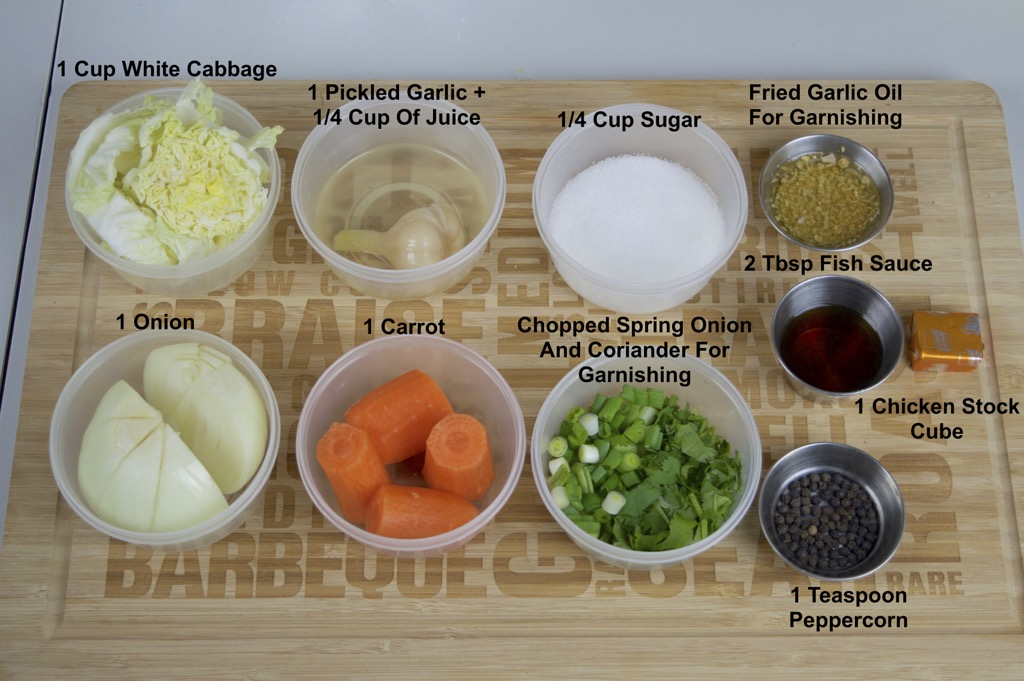 wonton dumpling soup ingredients list
