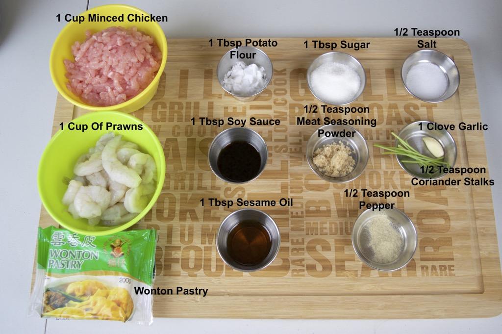 wonton dumplings ingredients list