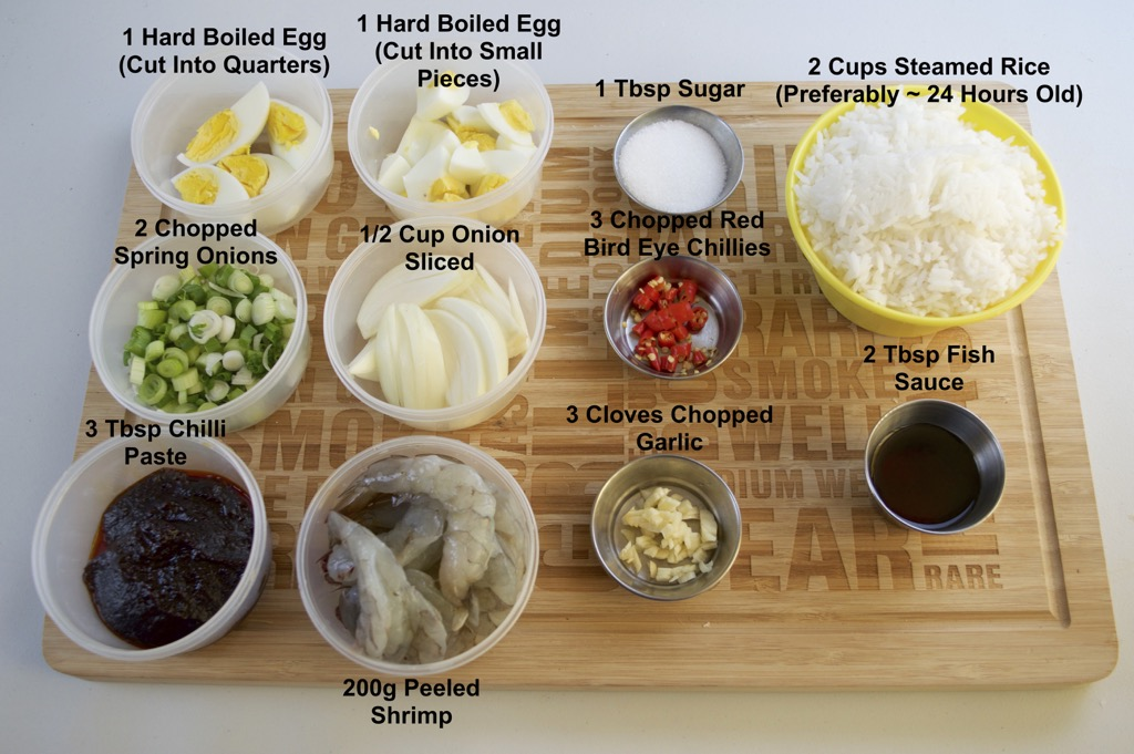 Chilli Paste Fried Rice With Shrimp Ingredients List