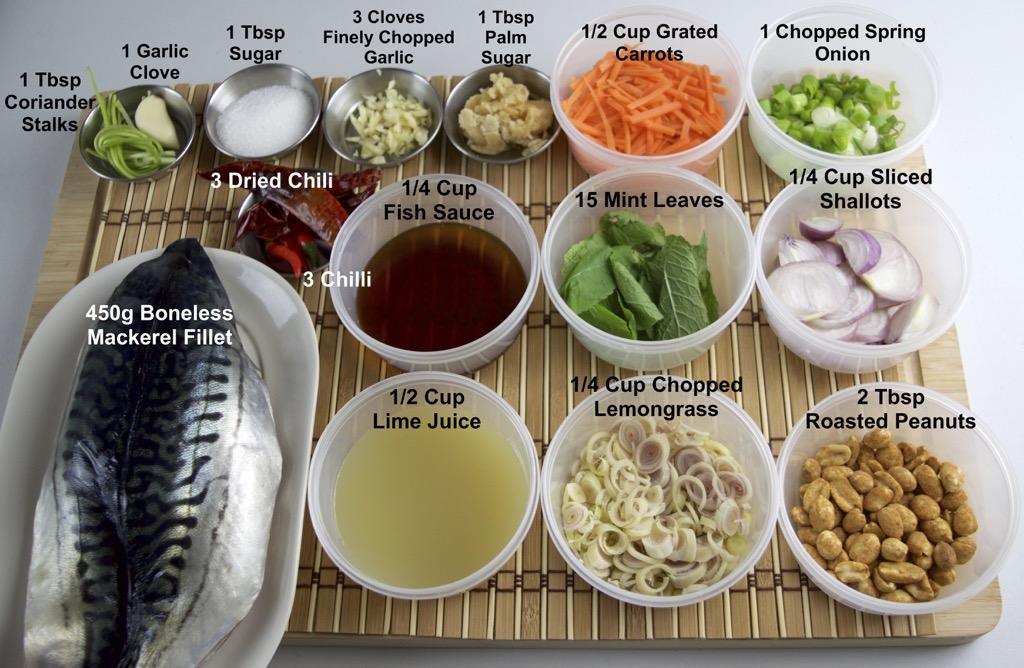 Spicy Grilled Fish Salad Ingredients List
