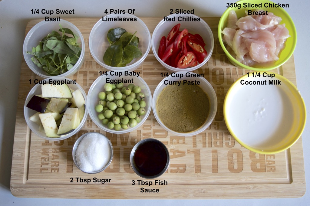 Thai Green Curry Ingredients List