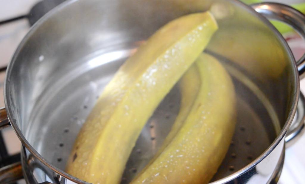 steaming bananas