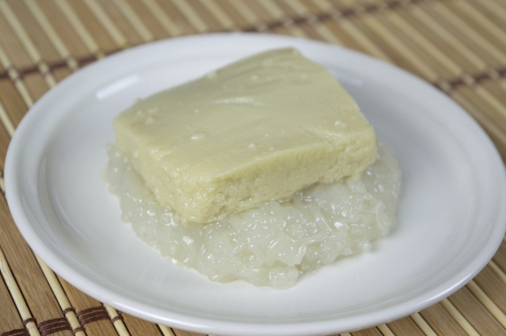 Coconut Sticky Rice With Steamed Custard