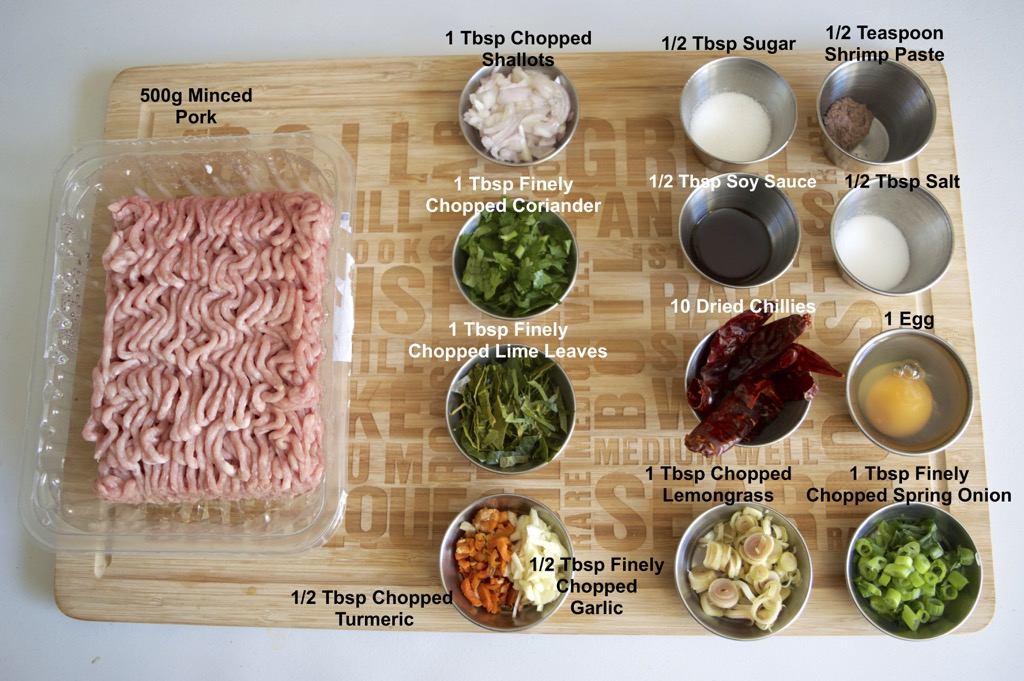 Northern thai sausage ingredients list