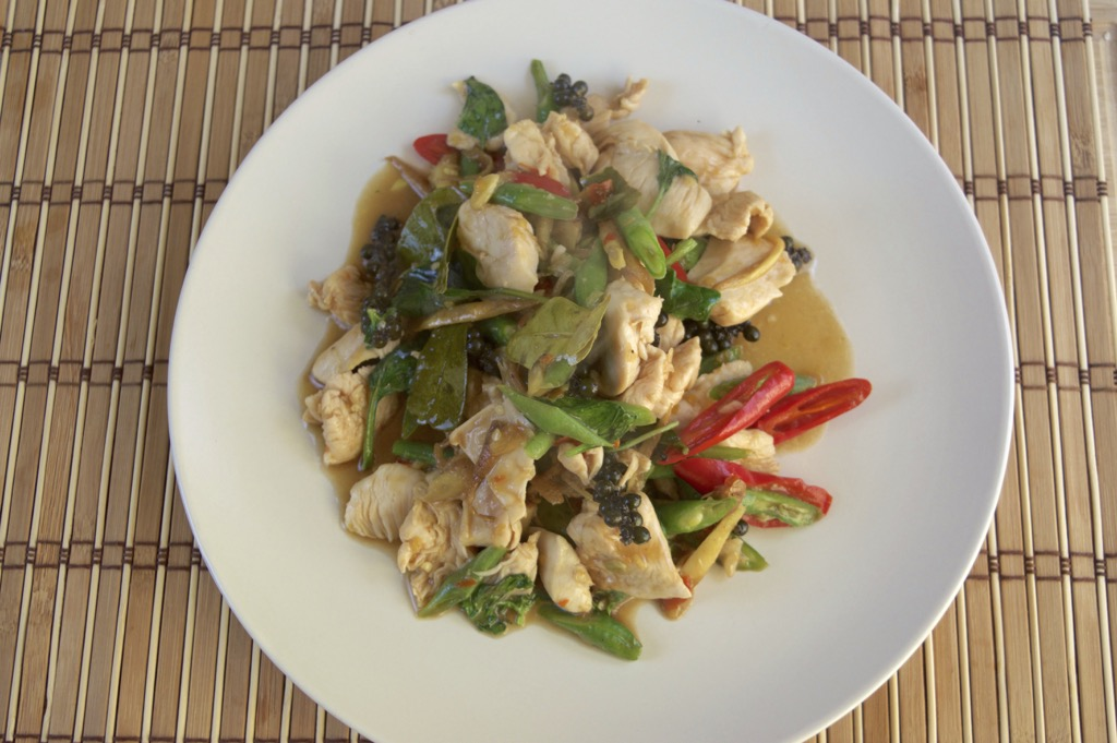 spicy thai chicken stir fry recipe