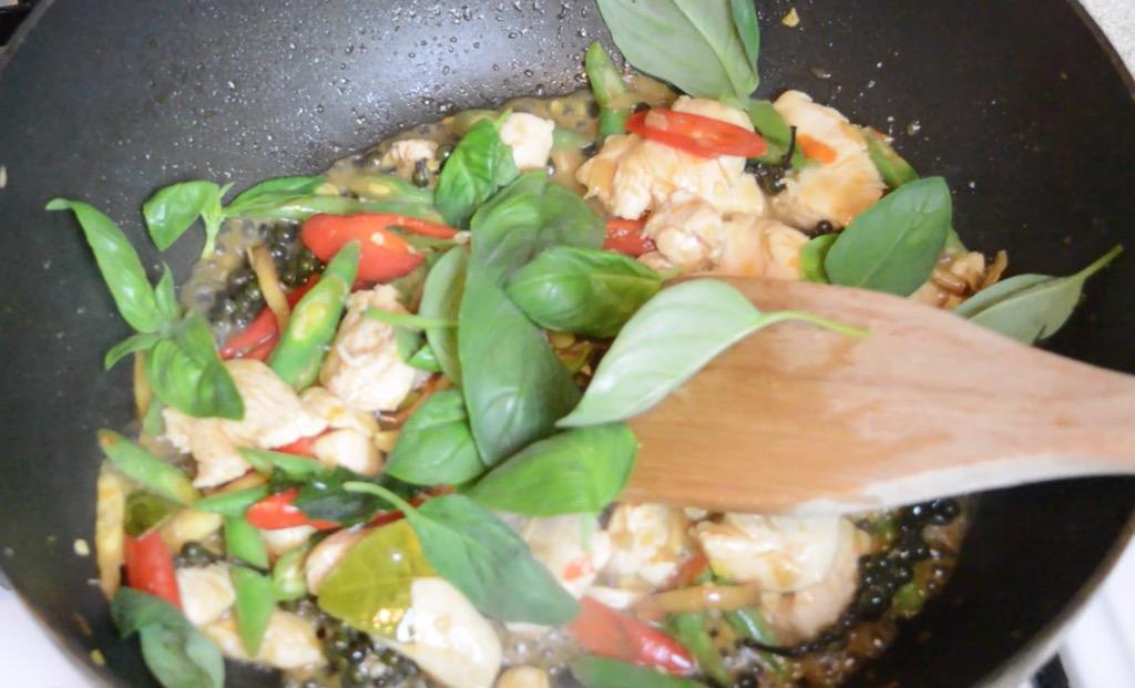 stir frying the thai stir fry