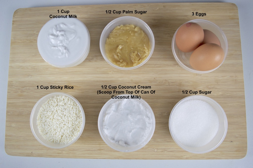 thai custard and sticky rice ingredients list