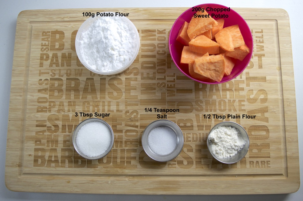 thai fried sweet potato balls ingredients list