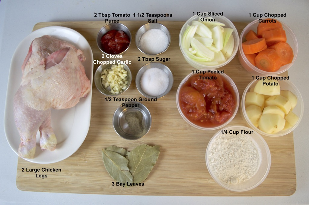 Thai Chicken Stew ingredients list