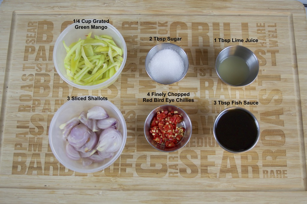 green mango dipping sauce ingredients list