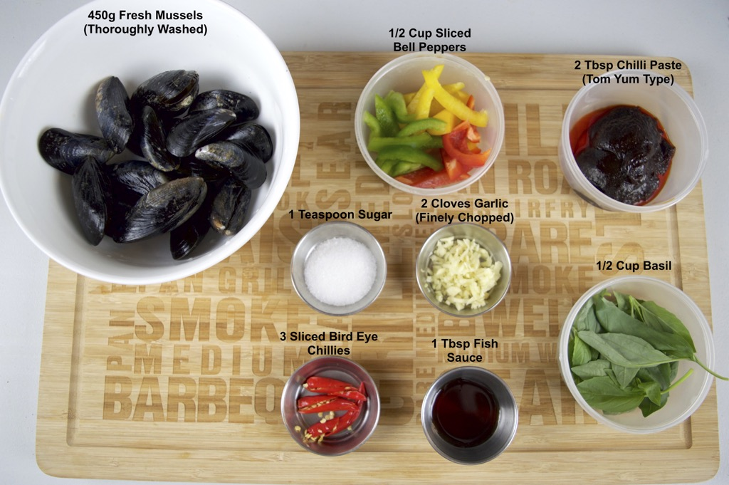 mussels in chilli paste stir fry ingredients list
