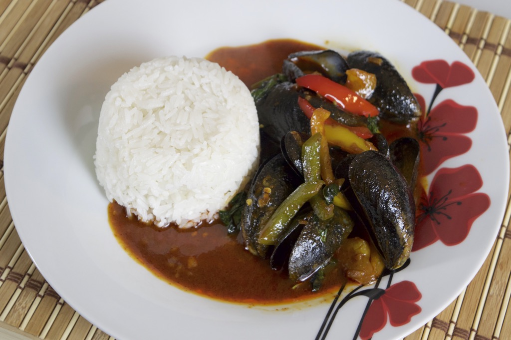 mussels in chilli paste stir fry recipe