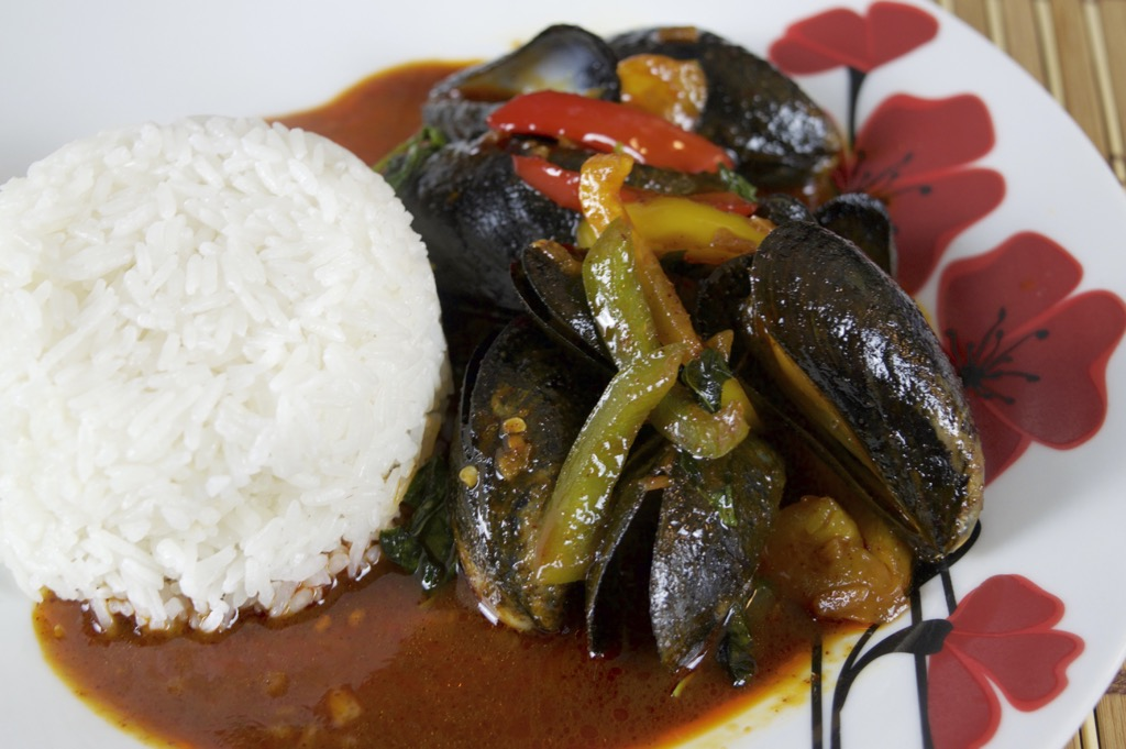 mussels stir fry recipe