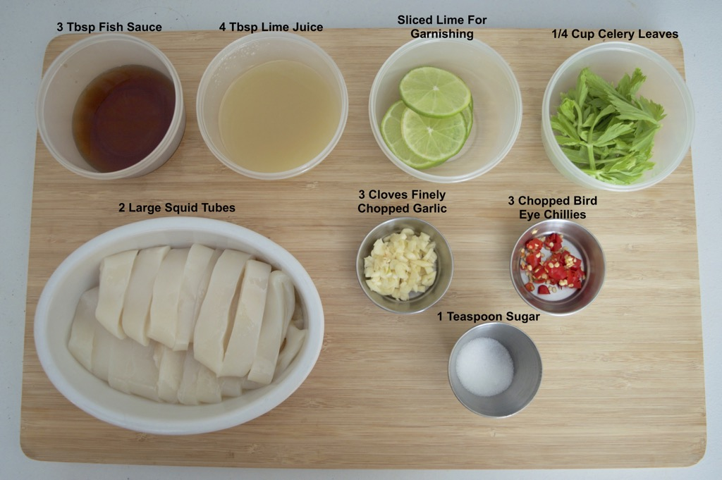 pla muk neung manao Ingredients list